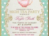 Formal Tea Party Invitation 25 Best Ideas About High Tea Invitations On Pinterest