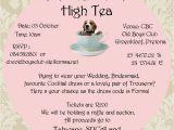 Formal Tea Party Invitation formal High Tea Fundraiser Beagles Co Za