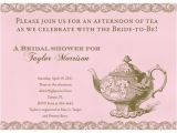 Formal Tea Party Invitation Wording formal Bridal Shower Invitation Wording Choice Image