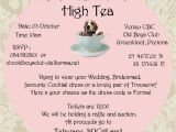 Formal Tea Party Invitation Wording formal High Tea Fundraiser Beagles Co Za