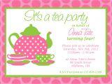 Formal Tea Party Invitation Wording Party Invitations Great Design Tea Party Invitation