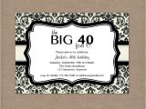Forty Birthday Party Invitation Wording 8 40th Birthday Invitations Ideas and themes – Sample
