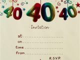 Free 40th Birthday Invitations Templates 40th Birthday Invitation Templates Free Download