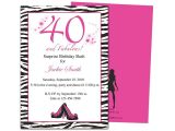 Free 40th Birthday Invitations Templates 40th Party Invites