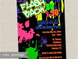 Free 90s Party Invitation Template 80s Birthday Party Invitations 90s Neon Party by Miragreetings