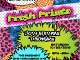 Free 90s Party Invitation Template 90 39 S theme Fresh Prince Princess Hip Hop Digital