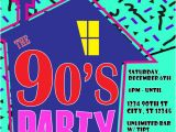 Free 90s Party Invitation Template 90 39 S theme House Party Digital Birthday Invitation
