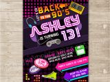 Free 90s Party Invitation Template Back to the 90 39 S Invitation Nineties Party Invite