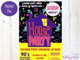 Free 90s Party Invitation Template House Party Invitation 90 39 S Party Invitation Birthday