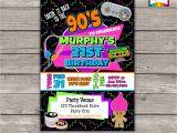 Free 90s Party Invitation Template Takin It Back to the 90s Retro Birthday Invite Personalized