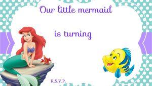 Free Ariel Birthday Invitations Printable Updated Free Printable Ariel the Little Mermaid