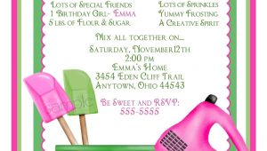 Free Baking Party Invitation Templates Baking Birthday Party Invitations Preppy Baking Kitchen