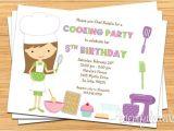 Free Baking Party Invitation Templates Kids Baking Birthday Party Invitation Printable