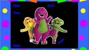 Free Barney Birthday Invitation Templates Barney Birthday Invitations Best Party Ideas