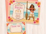 Free Birthday Invitation Cards to Print at Home Printable Moana Birthday Invitations Free Thank You Cards