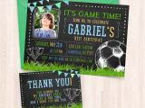 Free Birthday Invitation Cards to Print at Home Printable soccer Birthday Invitations Free Thank You Cards