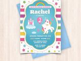 Free Birthday Invitation Cards to Print at Home Printable Unicorn Birthday Invitations Free Thank You