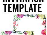 Free Birthday Invitation Template Floral Borders Invitations Free Printable Invitation
