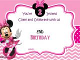 Free Birthday Invitation Templates Minnie Mouse Free Minnie Mouse 2nd Birthday Invitation Template Free