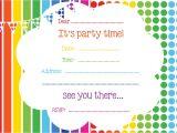 Free Birthday Party Invitation Templates Free Printable Birthday Invitations Line – Bagvania Free