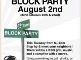 Free Block Party Invitation Template 4 Block Party Flyer Template Bookletemplate org