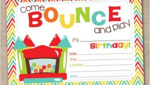 Free Bounce Party Invitation Template 5 Best Images Of Castle Birthday Invitations Free