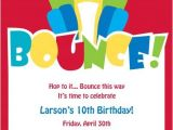 Free Bounce Party Invitation Template Birthday Invites Design Of Bounce House Birthday