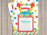 Free Bounce Party Invitation Template Bounce House Birthday Invitation Bounce House Invitation