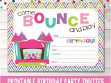Free Bounce Party Invitation Template Bounce House Instant Download Birthday Party Invitation