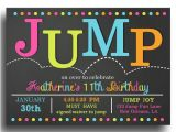 Free Bounce Party Invitation Template Jump Invitation Printable Jump Bounce Trampoline