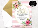 Free Bridal Shower Invitation Templates Downloads Blush Pink Floral Bridal Shower Invitation Template