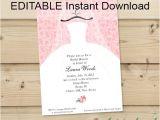 Free Bridal Shower Invitation Templates Downloads Editable Instant Download Bridal Shower Invitation