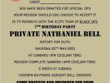 Free Call Of Duty Birthday Party Invitations Military Army Call Of Duty Black Ops Party Invitation