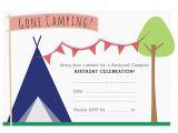 Free Camping Birthday Party Invitation Templates 18 Stunning Camping Birthday Party Invitations