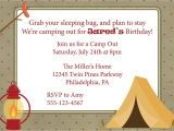 Free Camping Birthday Party Invitation Templates Camping Out Birthday Campout Invitation Camping Camp Out
