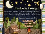 Free Camping Birthday Party Invitation Templates Scrip Scrapping the Night Away Camping Party Invites