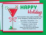 Free Christmas Cocktail Party Invitation Templates Christmas Cocktail Party Invitation Printable Holiday