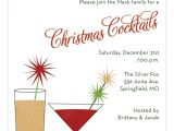 Free Christmas Cocktail Party Invitation Templates Christmas Cocktails Invitation for the Holidays Polka