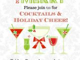 Free Christmas Cocktail Party Invitation Templates Christmas Cocktails Invitation You Print Holiday Party
