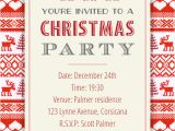 Free Christmas Party Invitation Template Sweaters Pattern Christmas Invitation Template Free