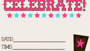 Free Cowgirl Birthday Invitation Templates 8 Best Images Of Printable Western Birthday Invitations