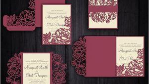 Free Cricut Wedding Invitation Template Peonies Set Cricut Wedding Invitation Template Gate Fold