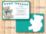 Free Customizable Printable Baby Shower Invitations Custom Baby Shower Invitation Printable Teddy Bear 1