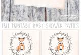 Free Customizable Printable Baby Shower Invitations Free Customizable forest Animal Baby Shower Invite