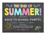 Free End Of Year Party Invitation Template Back to School End Of Summer Party Invitation Zazzle Com