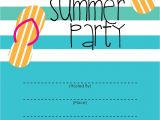 Free End Of Year Party Invitation Template Summer Party Invitation Free Printable End Of Year