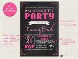 Free Evite Bachelorette Party Invitations Items Similar to Bachelorette Invitation Chalkboard
