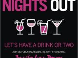 Free Evite Bachelorette Party Invitations Pink and Black Cocktail themed Bachelorette Party