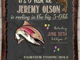 Free Fish themed Birthday Party Invitations Fishing Birthday Invitation Invite 30th 40th 50th 60th