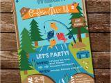 Free Fish themed Birthday Party Invitations Fishing Invitation Fishing Invite Gone Fishing Party